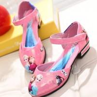 Giày Elsa bé gái màu hồng 3 đến 8 tuổi