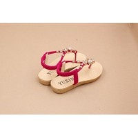 Sandal xỏ ngón màu hồng sz 36
