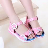 Sandal Giày Elsa bé gái màu hồng