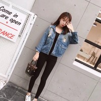 Áo khoác jean nữ