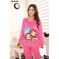 bộ đồ ngủ dài thun mềm mịn mát hiệu PINK hàng xuất khẩu - B465