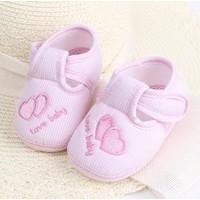 Giày tập đi quai dán cho bé gái