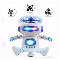 Robot đồ chơi thông minh phát nhạc xoay 360 độ cho bé