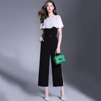 Bộ jumpsuit áo và quần ống rộng cao cấp -H1708