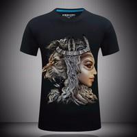 áo phông 3d người sư tử Mã: NT1720