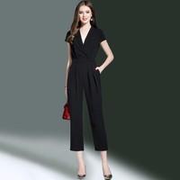 Bộ jumpsuit áo và quần ống rộng cao cấp - G08604