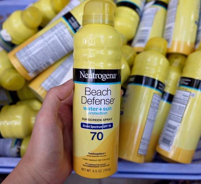 Kem chống nắng neutrogena dạng xịt spf 70