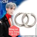 Bông tai inox thời trang của Sơn Tùng M-TP giá rẻ nhất HCM màu trắng