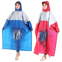 Combo 2 áo mưa 1 đầu vải nhũ có kiếng đèn đỏ và xanh đen