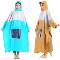 Combo 2 áo mưa 1 đầu có kiếng đèn màu xanh  và nâu