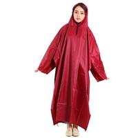 Áo mưa cánh dơi 1 đầu vải dù màu đỏ