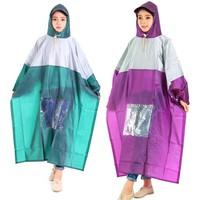 Combo 2 áo mưa 1 đầu vải nhũ có kiếng đèn màu tím và xanh