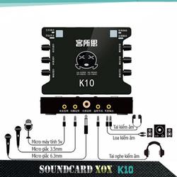 Sound Card XOX K10 dành cho hát Live