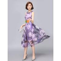 Đầm Xoè Hoa Dài Maxi_VD198