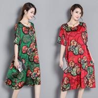 Đầm suông họa tiết 1D0704