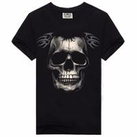 áo phông 3d đầu lâu Mã: NT1738