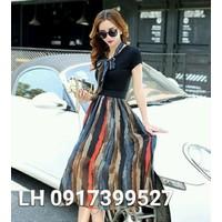 Đầm maxi đầm xòe váy maxi VINTAGE L12mx35