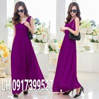 Đầm váy maxi váy đầm maxi VINTAGE L12TP36