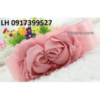 Thắt lưng nữ Dây nịt thắt lưng nữ bản nhỏ Roses cao cấp L12TL01