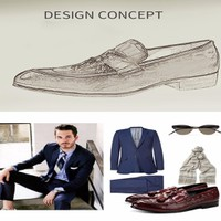 Giày Luigi Brogue - giày lười - giày công sở nam