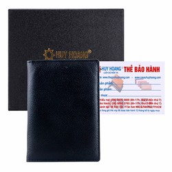 Ví đựng passport da bò Huy Hoàng màu đen