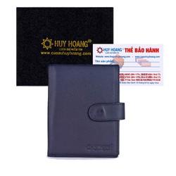 Ví đựng Passport Huy Hoàng bấm nút màu đen