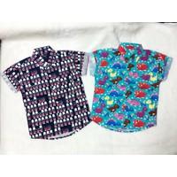 Set áo sơ mi họa tiết Thái Lan cho bé trai
