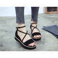Giày sandal bánh mì quai ngang dây chéo