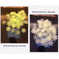 Dạ quang hoa tuyết màu trắng bịch 50 cái