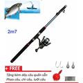 Bộ cần câu 2m7 và máy câu cá tặng kèm phụ kiện câu cá