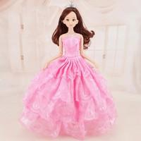 Búp Bê 12 Khớp Váy Hồng Xinh Xắn Kèm 03 Váy Ngắn B01