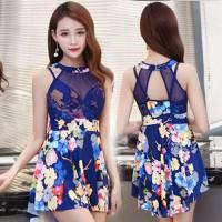 Váy bơi phối ren xanh duyên dáng_M1683