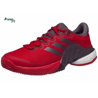 Giày tennis adidas Barricade 17 BOOST RedGreyBurgundy Mens Shoe