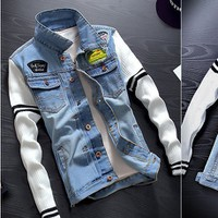 Áo khoác jeans nam thời trang