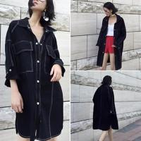 áo khoác denim dáng dài Mã: AO3129