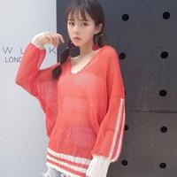áo len nữ cánh dơi Mã: AK1983 - CAM