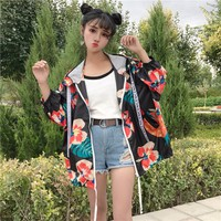 áo khoác oversized hoa Mã: AO3138 - ĐEN
