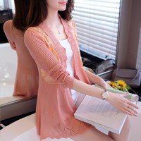 Áo Khoac Len dêt kim xinh xắn - Hàng nhập  - AK058