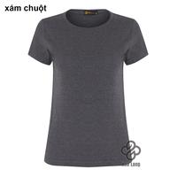 áo thun trơn cotton nữ đẹp giá rẻ Xám Chuột