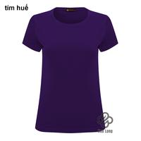 áo thun trơn cotton nữ đẹp giá rẻ Tím Huế