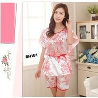 Bộ đồ mặc nhà,ngủ họa tiết hoa trẻ trung,mát mẻ-BN151