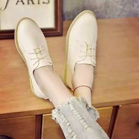 Giày Oxford da đế thấp