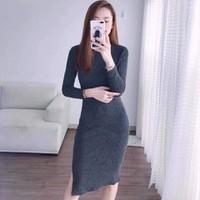Đầm boddy tay dài