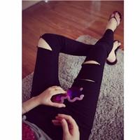 quần dài skinny rách cá tính Mã: QD966 - ĐEN