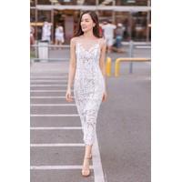 Đầm body 2 dây ren hoa siêu đẹp