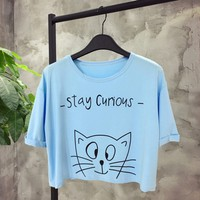 áo crop top stay curious  Mã: AX3268