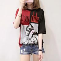 áo thun nữ phối màu Mã: AX3263 - ĐỎ