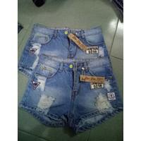 short jeans thêu