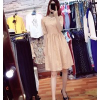 Váy ren - Váy ren đầm dáng xòe