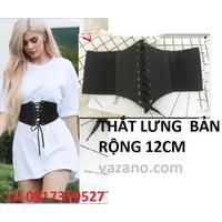 Dây nịt Thắt lưng nữ bản rộng 12 phân thời trang Hàn Quốc L12TL117